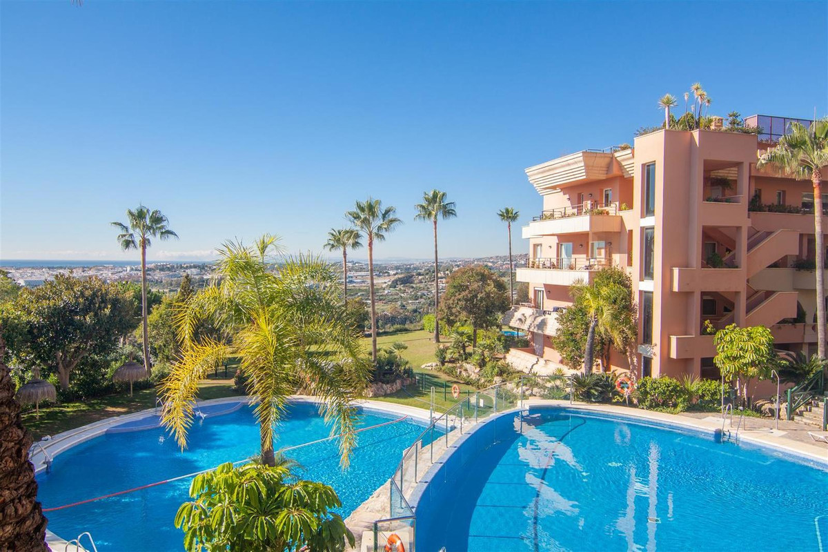 Firstline golf apartment in a highly desirable complex for sale at Nueva Andalucia, Costa del Sol. I,Spain