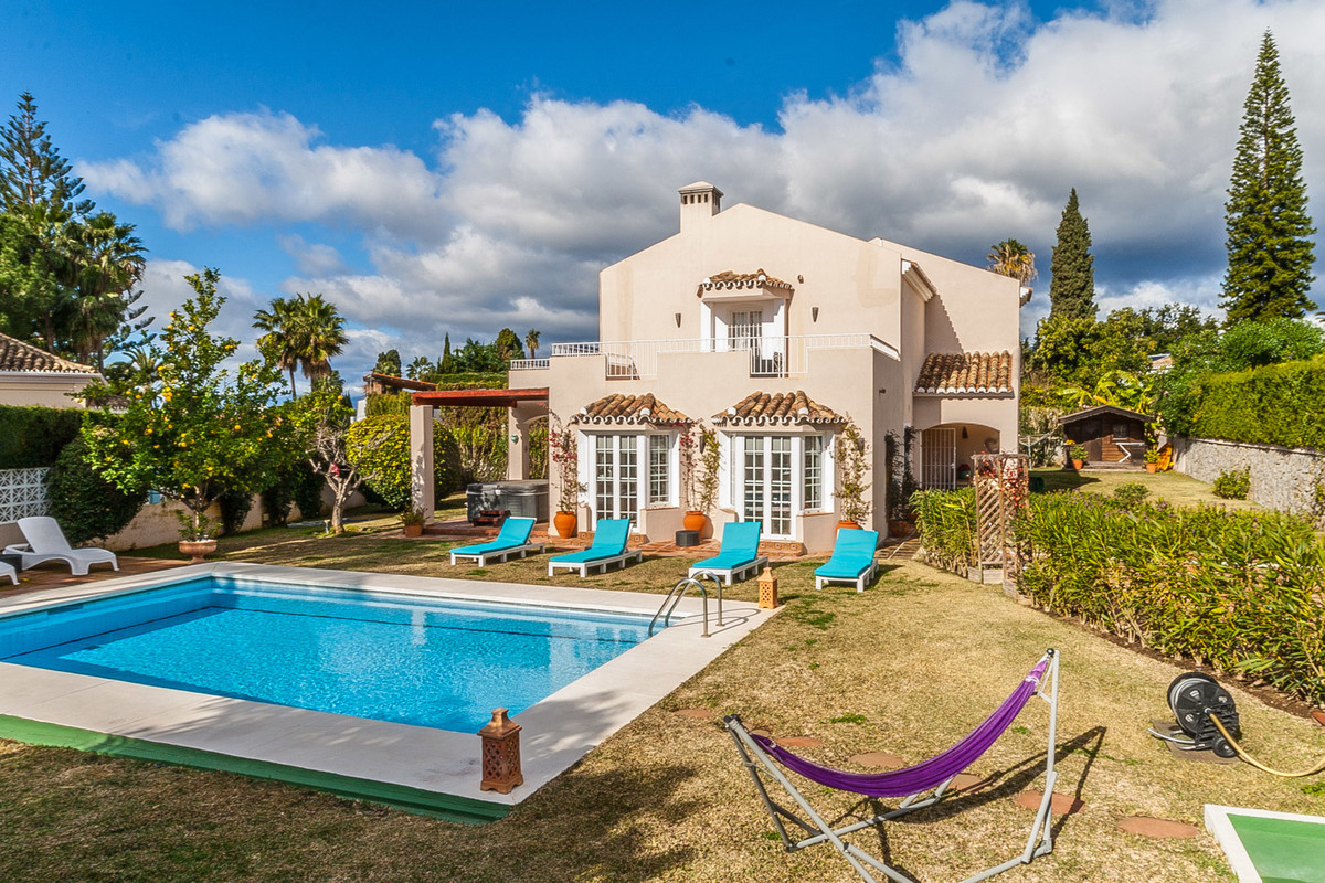 Lovely two level villa in a sought after area in Elviria, Marbella. This property offers 5 bedrooms ,Spain