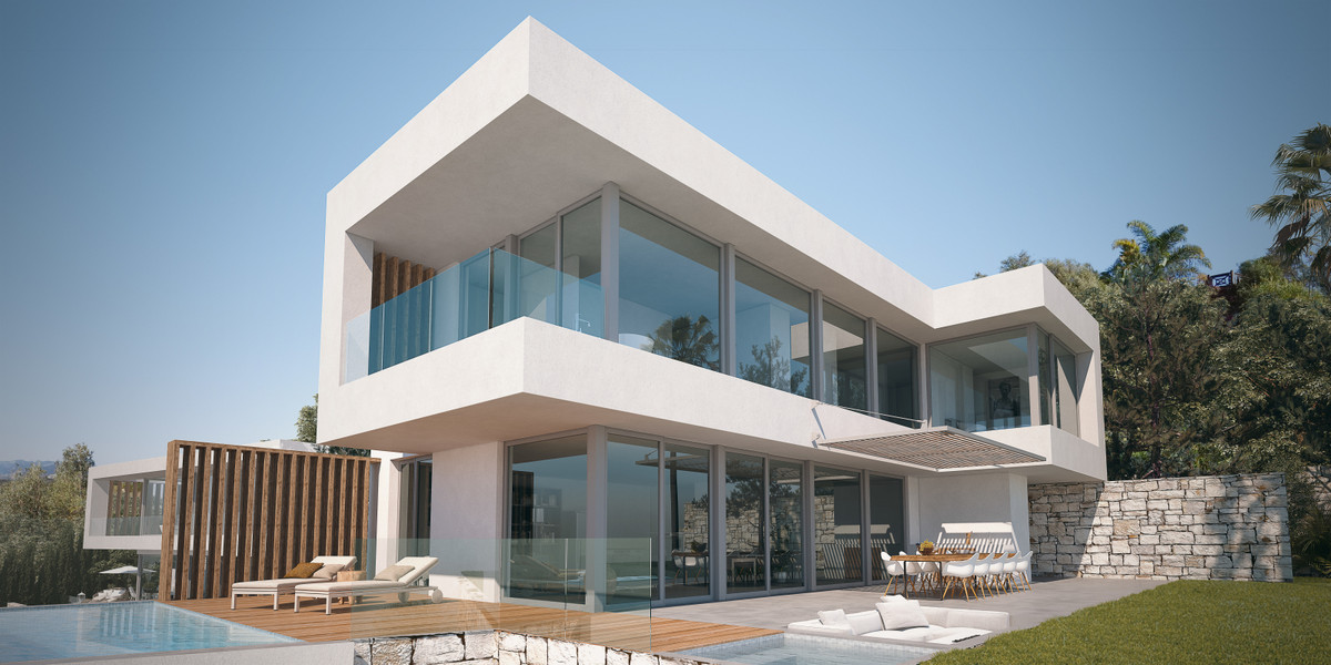 4 level contemporary designer villa in the sought after residential area of El Rosario, Marbella. On, Spain