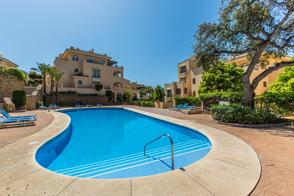 Groundfloor apartment with sea views in the complex Hacienda Elviria in East Marbella, offering two , Spain