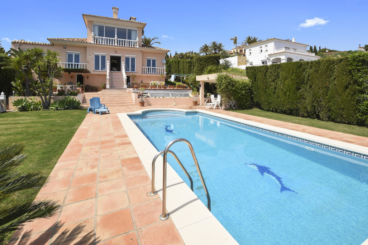This property is located in Punta Chullera,  a mountainside urbanisation in Manilva overlooking one ,Spain