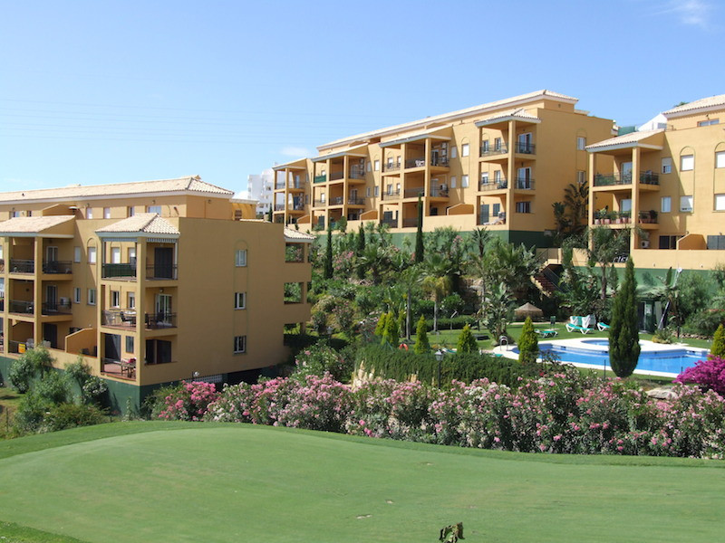 A spacious first floor frontline golf apartment with some views over Miraflores Golf Course and part,Spain