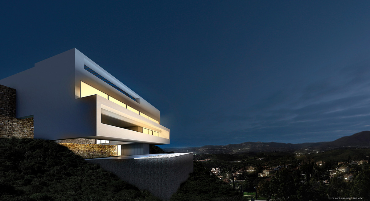 NEW PROJECT OF MODERN STYLE VILLA AND AVANT-GARDEN LOCATED IN MIJAS GOLF  CONTEMPORARY VILLA  CONSTR, Spain