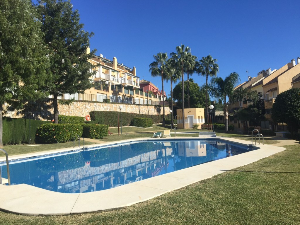 This is a very nice family home in a small complex, located in a well know area of Marbella, a few m,Spain