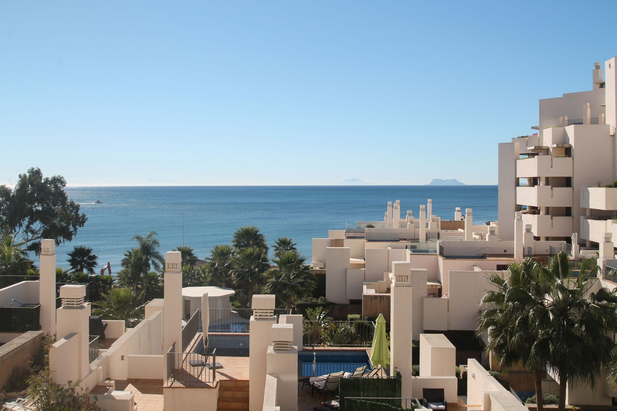 Beachfront South-West facing three bedroom duplex penthouse in Estepona beachside, located just a fi,Spain