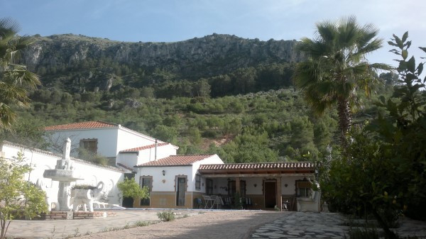 Detached villa situated in the village of Cuevas de San Marcos, 4 km to Lake Iznajar, with wonderful,Spain