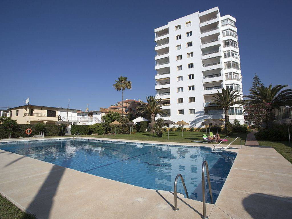 Frontline beach in la Cala de Mijas.   A bright and fresh studio apartment offered for sale in the p, Spain