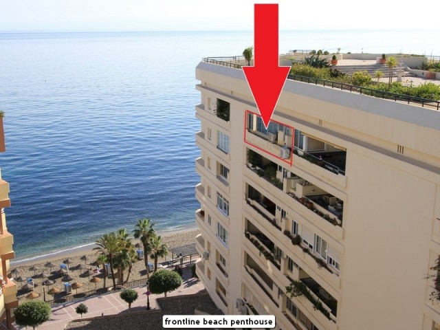 Frontline beach penthouse apartment located in the centre of Marbella with amazing open sea views.  Spain