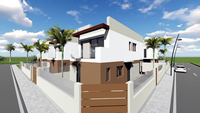 Modern villas located in San Pedro del Pinatar, just 3 km from the beach and 1,5 km from the city ce, Spain
