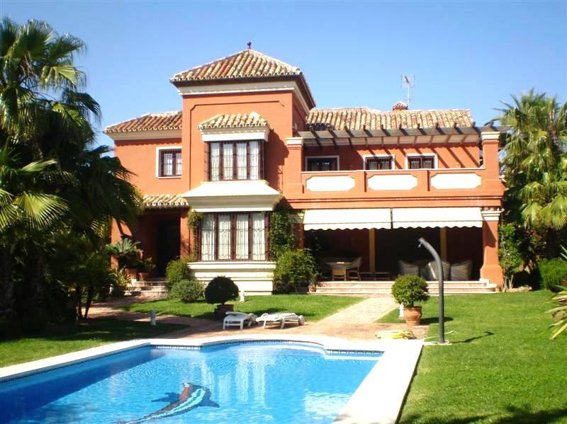 Fabulous south west facing beachside villa in Las Chapas Playa only 100 metre walk to the beach. Wel,Spain