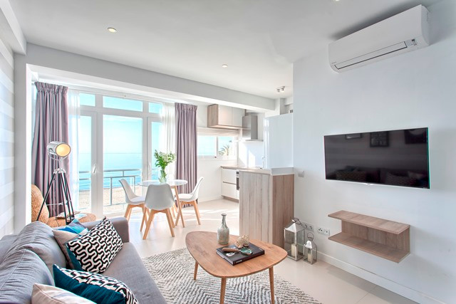 ESTEPONA FIRST LINE: Completely renovated  in  a modern scandinavian style.  Perfectly situated one ,Spain