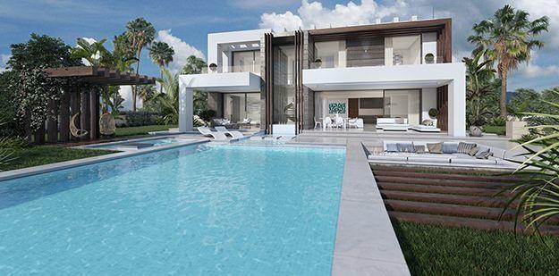 Detached Villa, Estepona, Costa del Sol. 4 Bedrooms, 4 Bathrooms, Built 184 m², Terrace 343 m², Gard,Spain