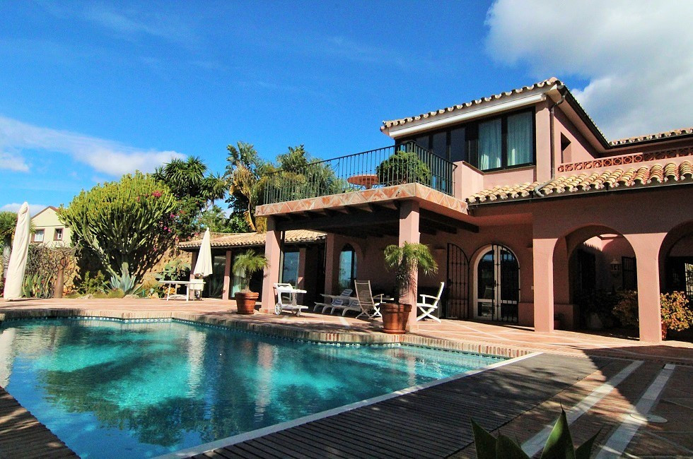 Andalusia Style villa in the heart of Los Monteros  The house has built on 2 levels and has on the l, Spain