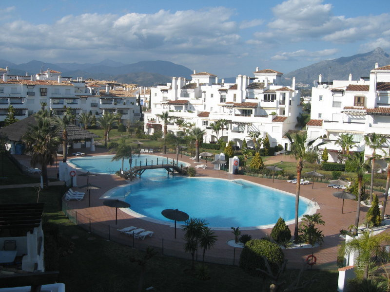 Nice ground floor apartment situated in the well known development of Las Adelfas, first line of San, Spain