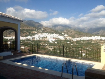 Wonderful two bedroom villa with views over Nerja to the sea and across to the white washed village , Spain