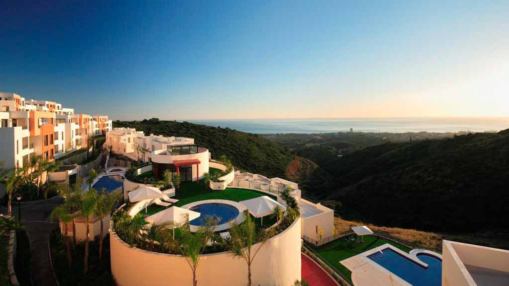 The urbanization Altos de los Monteros is located at the east of Marbella town - the beach and sever, Spain