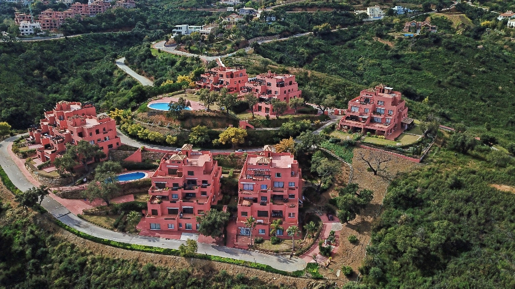 This exclusive urbanisation has 2 swimming pools, is securely gated with beautifully maintained comm,Spain