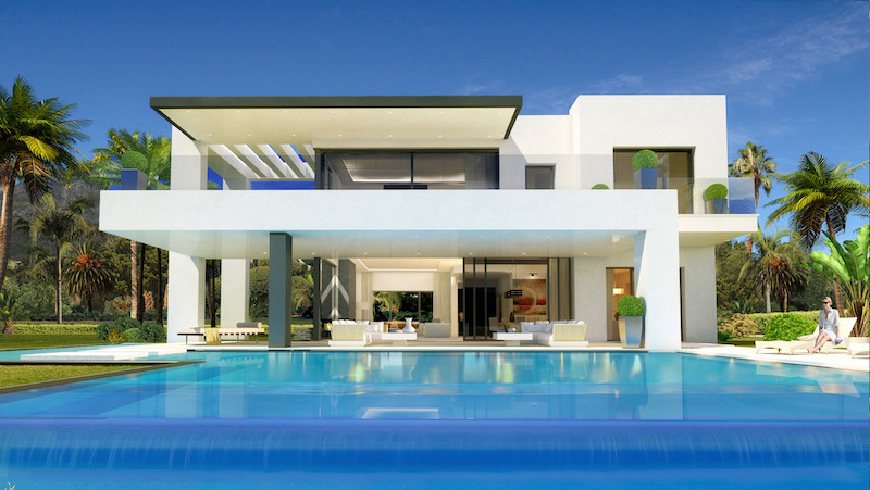 Stunning villa to be completed January 2018, is located in a gated community of eight luxurious priv,Spain