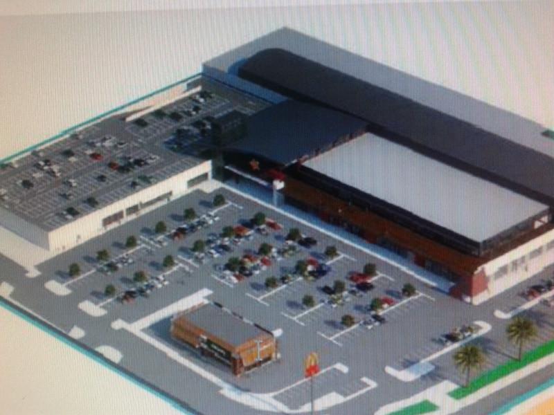 Parque comercial con una dimension de 20.920.27 m2. La planta baja la componen un cine de 6000 m2, e,Spain