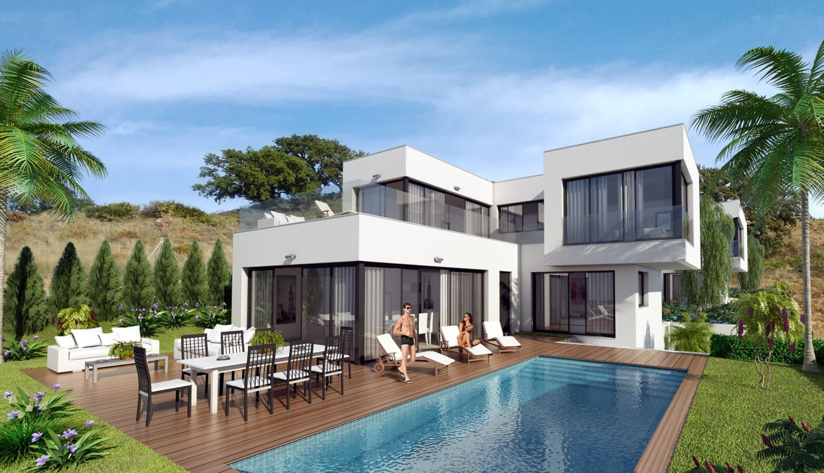 New Build Contemporary Villas - Mijas  Villa and plot with fantastic sea and mountain view. Price in,Spain