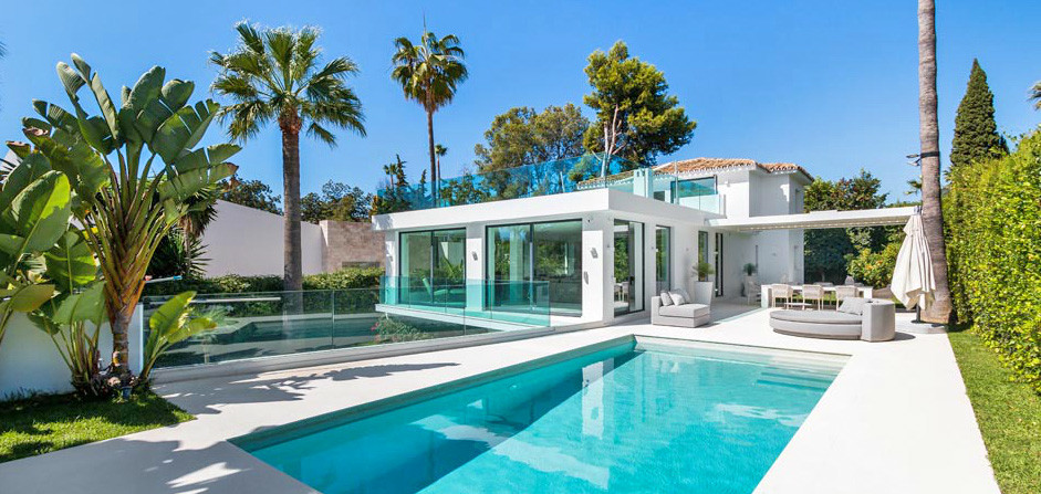 Modern contemporary villa located second line to Las Brisas golf course, within one of the most soug, Spain