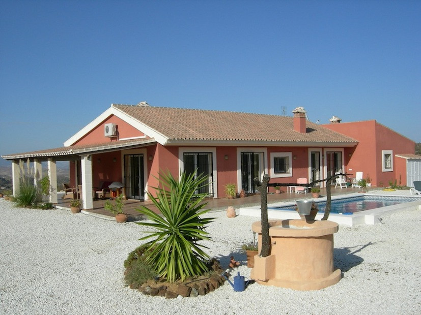 Enjoy excellent views from this beautiful and private Finca. This high quality built and equipped vi,Spain