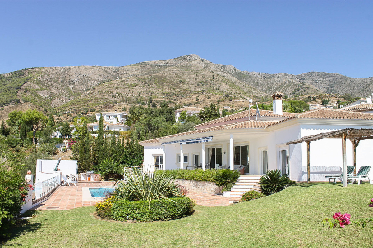 Modern beautiful villa with spectacular views over the Mijas mountains The house was built in 2007 a, Spain