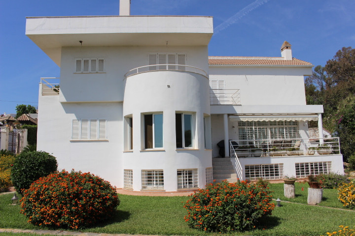 Magnificent  villa in Benalmadena Costa with amazing sea views at 100 meters from the beach.  The gr Spain