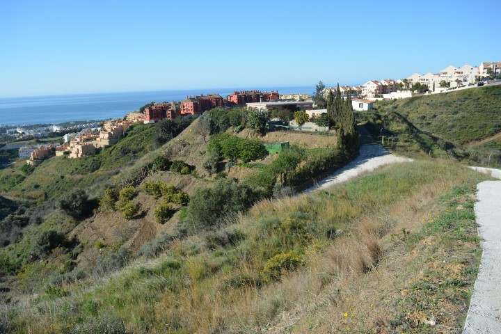 The best sea views in Mijas Costa in the area of Calahonda with two bedrooms and pool.  Located on t, Spain