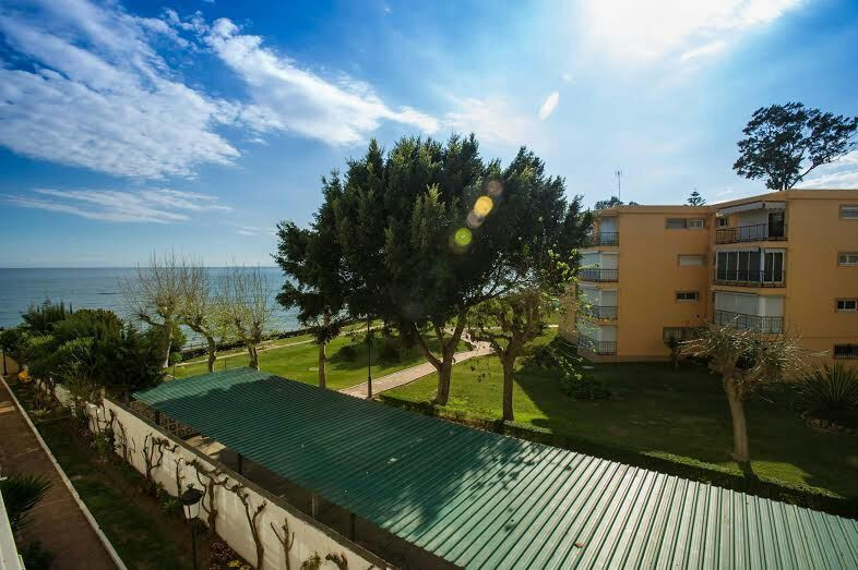 First line of beach in Cancelada Estepona  Apartment in first line beach complex. You can see and he,Spain