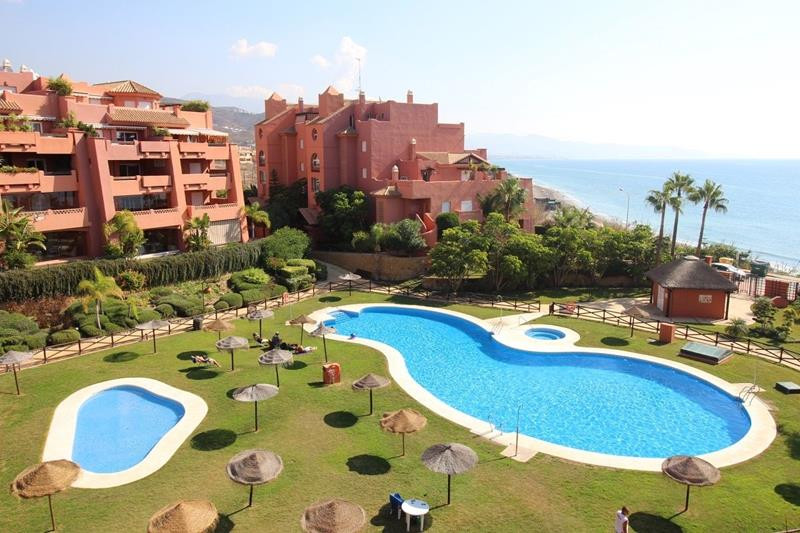 Top floor apartment on a beachfront complex in Torrox Costa. Built to very high standards with first,Spain
