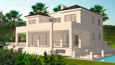 Modern newly built Villa is located in a quiet and private area, close to all supplies including sup, Spain