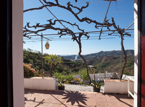 Nice rustic country home with panoramic sea & mountains views, south orientation, furnished, fir,Spain