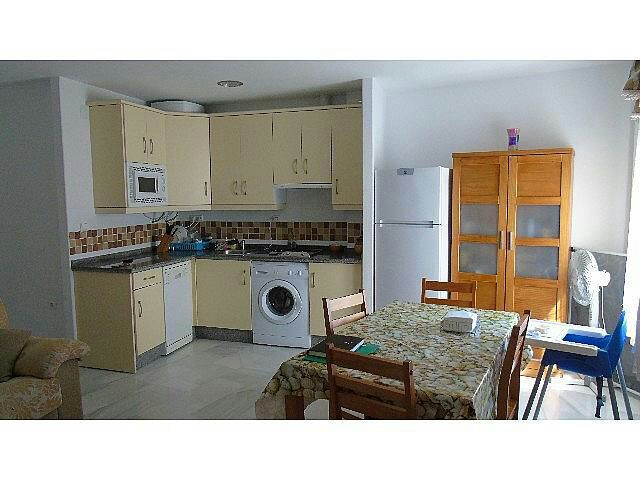 It is an apartment with 2 bedrooms, large living room, dining room-kitchen and bathroom.  It has no , Spain
