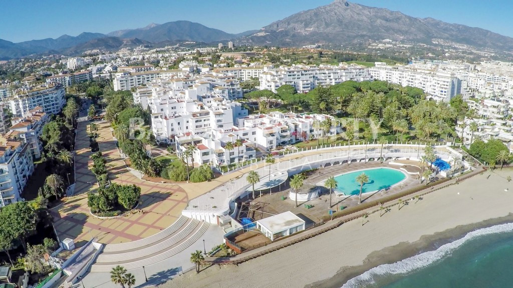 Beach front, 5 stars club Playas del Duque, in Puerto Banus, is Marbella and Costa del Sol's mo, Spain