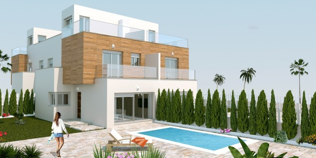 Modern semidetached properties located in San Pedro del Pinatar, surrounded by two seas, the Mediter Spain