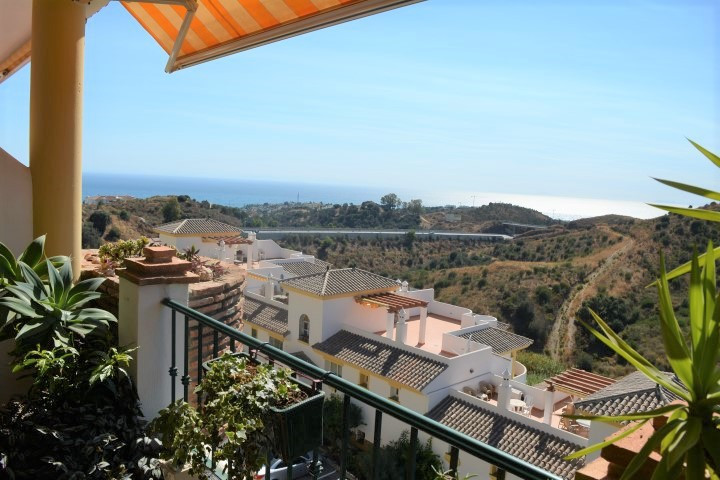 Sunny 2 bedroom southwest facing penthouse with sea views.  Panoramic views with just the mountains ,Spain