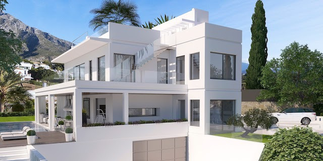 5 Bedroom Contemporary Luxury Villa is located in the prestigious area of the Golden Mile with Spect,Spain