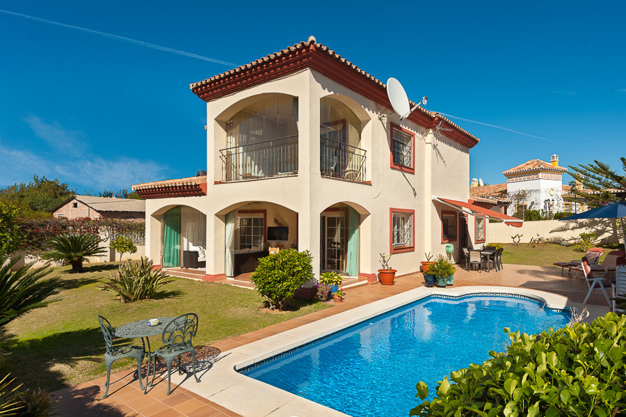 Beautiful Andalusian style villa situated in the heart of Riviera del Sol, a few minutes driving fro, Spain