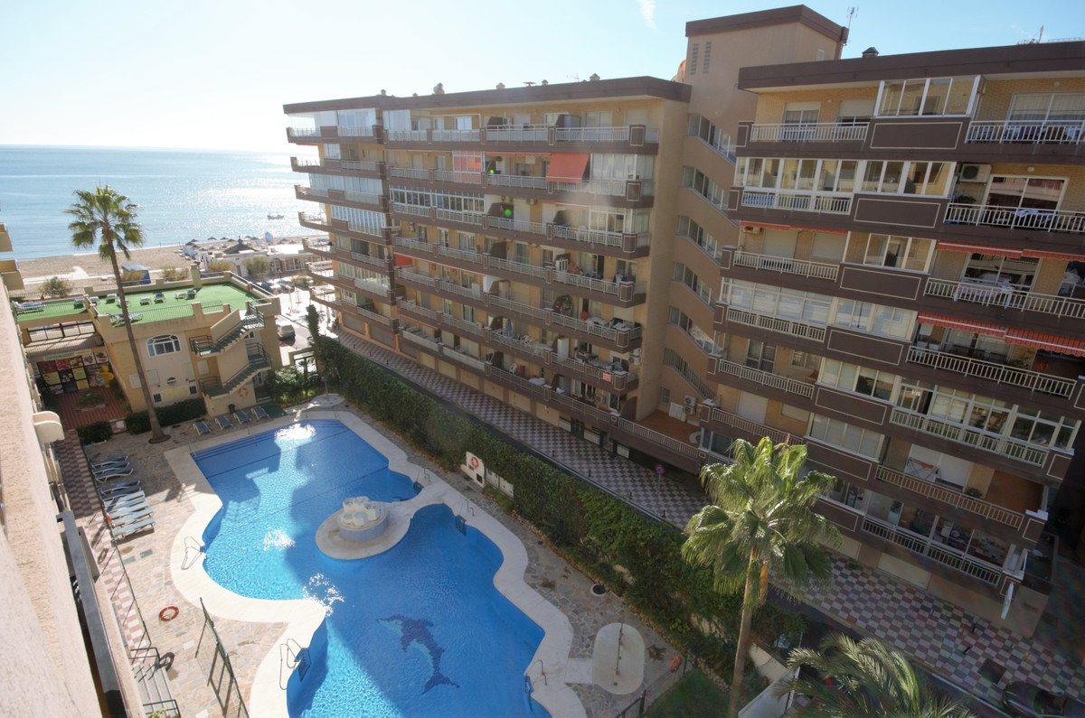 Beachfront apartment with seaviews in the Paseo Maritimo in Los Boliches, Fuengirola. Ideally locate,Spain