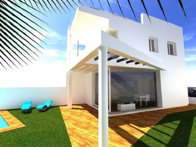 BRAND NEW!   CONTEMPORARY STYLE VILLA with sea views located in Torreblanca (Fuengirola). At only 95, Spain