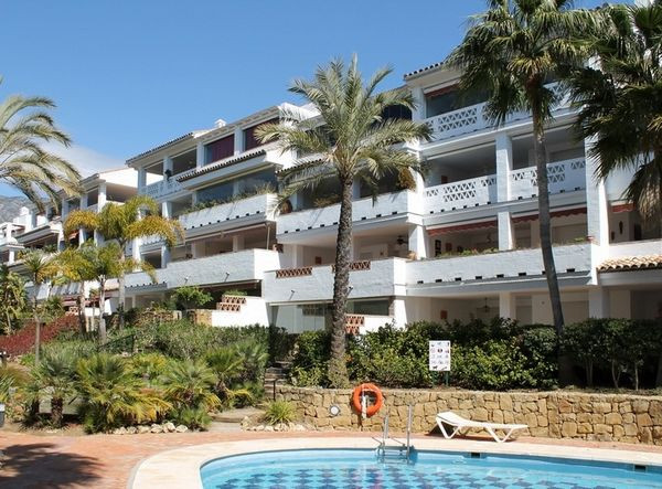 Chic two bedroom east facing apartment perfectly located in Las Canas Beach, a sought after beachfro,Spain