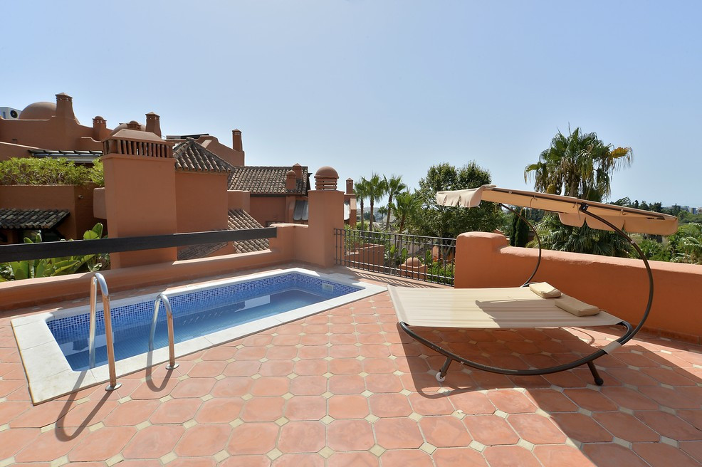 Large duplex penthouse in one of the best developments on the Costa del Sol. From the elevator you c,Spain