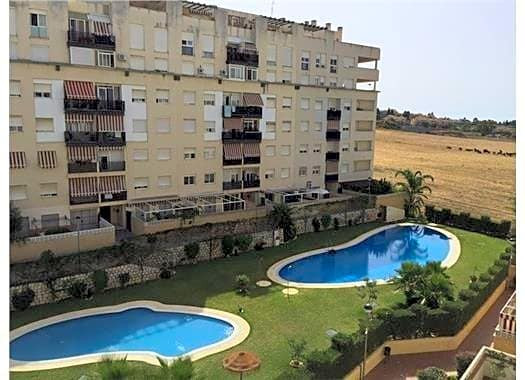 Flat with stunning views of the countryside. It is located in a quiet area with security. It has two, Spain