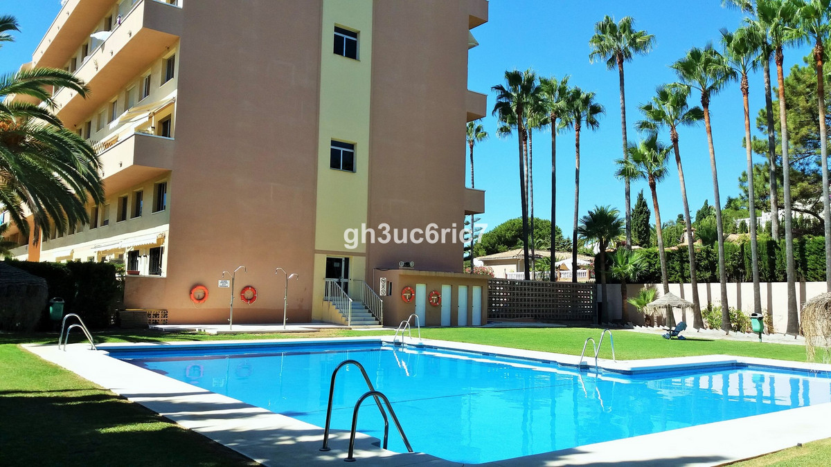 A nice beach side 1 bedroom duplex apartment situated within a complex in Carib Playa, Marbella. The, Spain