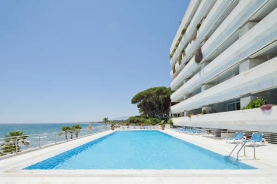 Magnificent two bedroom first line beach apartment on Marbella's Promenade. The spacious living room,Spain