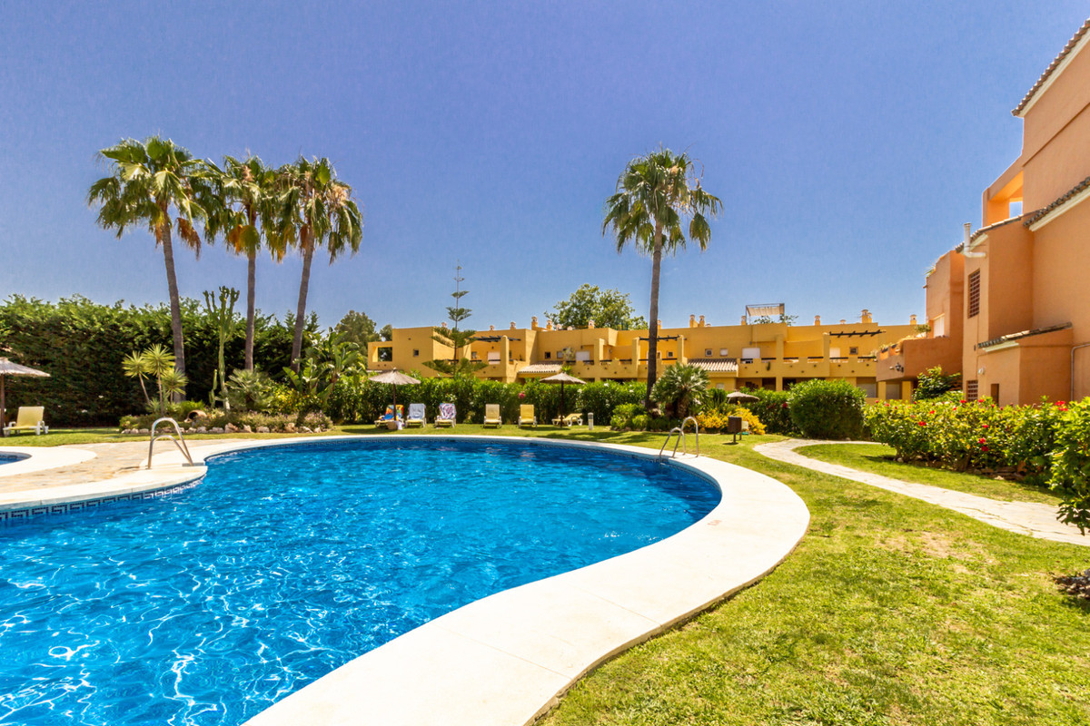 Spacious duplex penthouse located in a front line golf Andalucian style complex in Guadalmina. The p, Spain
