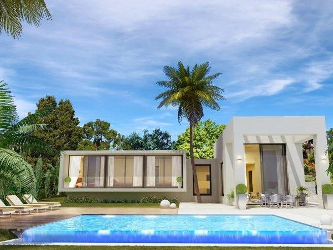 In construction, contemporary style villa for sale in Campo Mijas, on the outskirts of Fuengirola an, Spain
