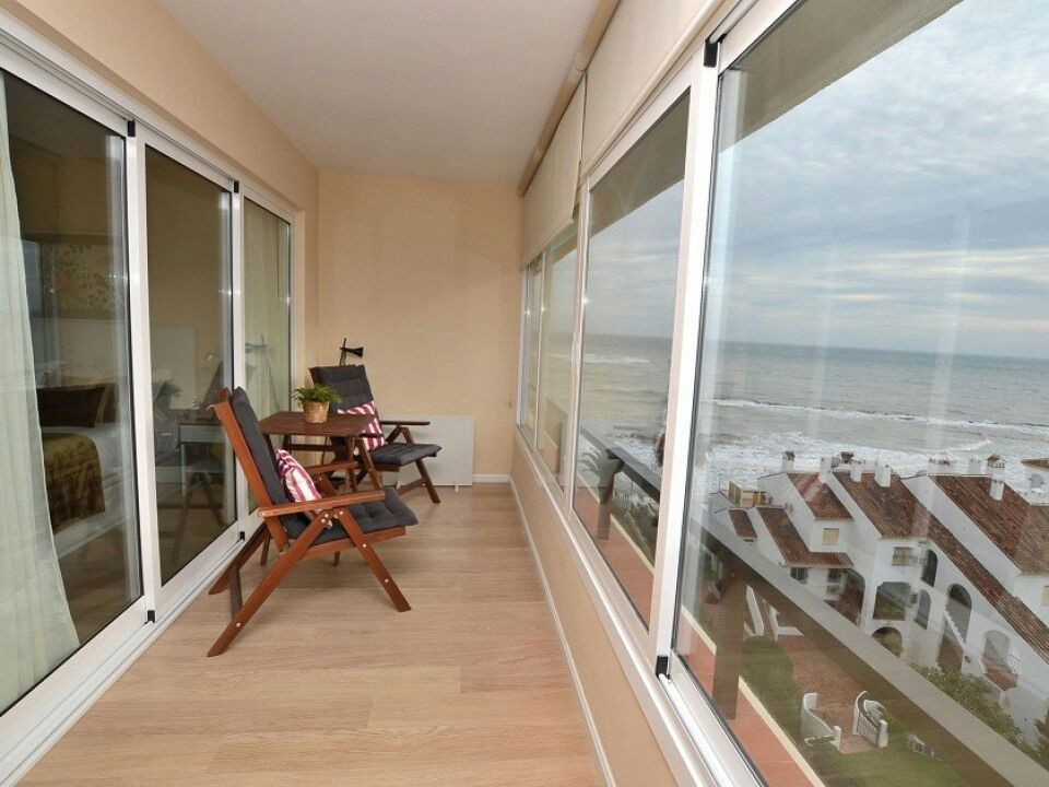 Very sunny and contemporary beachfront completely renovated with panoramic sea views, prime location, Spain