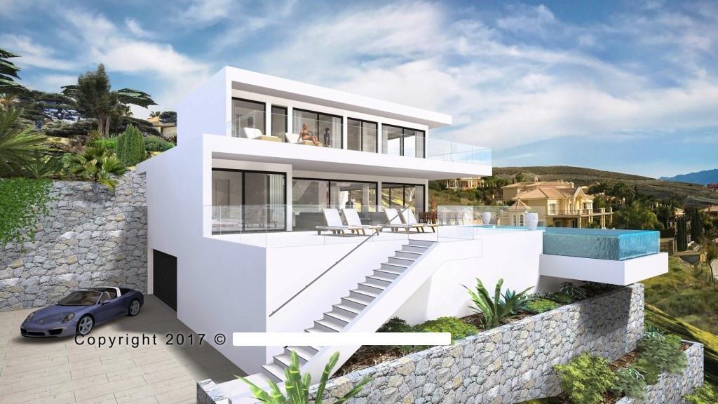 Contemporary villa to be built in Los Flamingos Golf, Benahavis. Exclusive design villa in a fantast,Spain